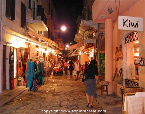 The Old Town of Chania at night