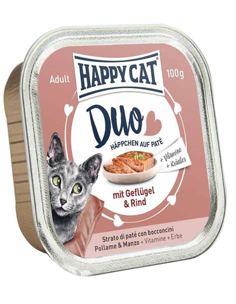 Happy Cat Duo Pâté on Nibbles with Chicken & Beef Tray 100