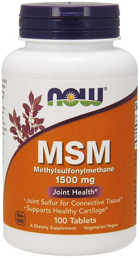 MSM 1500 mg Tablets | NOW Foods