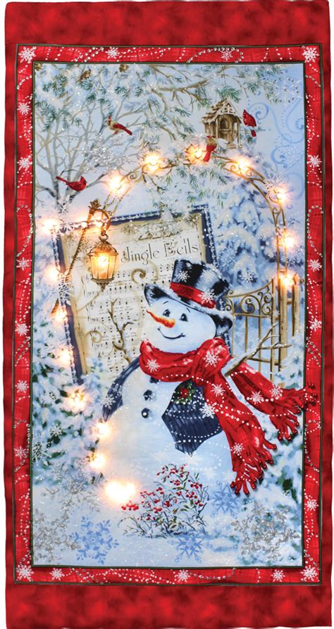 Lighted Snowman Canvas | Crafts Direct